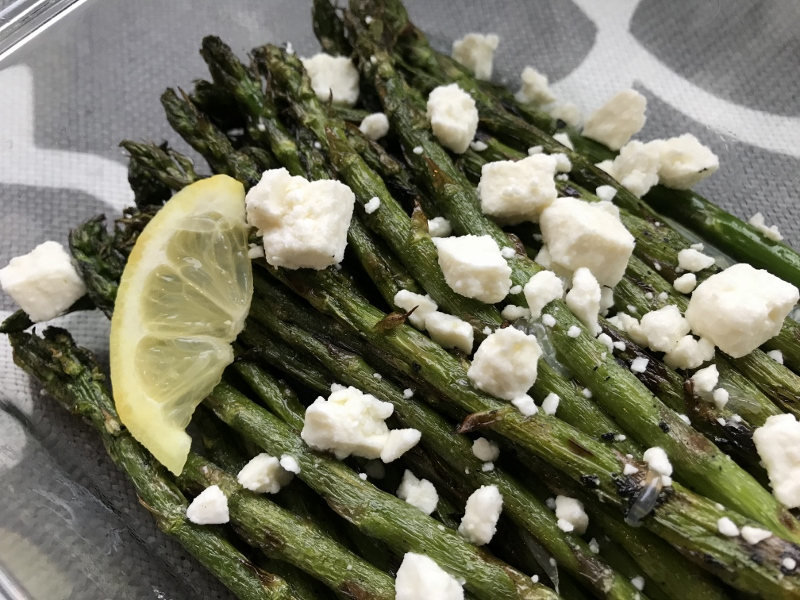 Grilled Asparagus Salad with Lemon & Feta