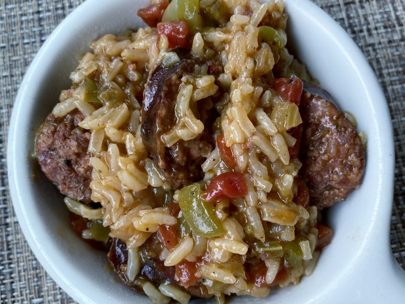 Instant Pot Sausage and Chicken Jambalaya
