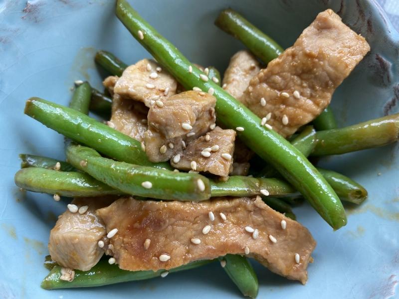 Sesame Pork and Green Beans