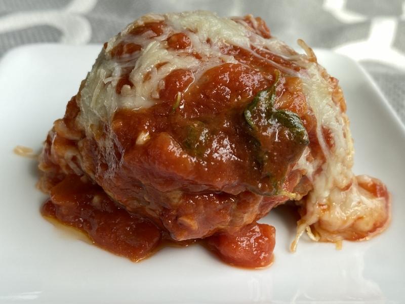 Sausage Ricotta Meatball Bake