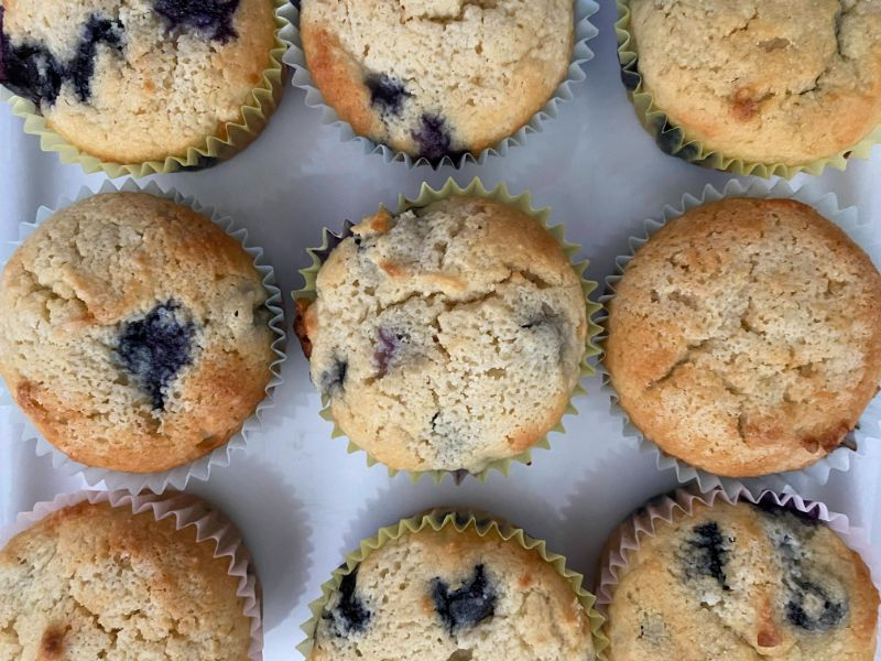 Perfect Low Carb Blueberry Muffins